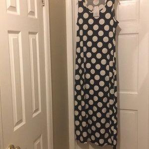 Lularoe Dani Polka Dot Maxi Dress